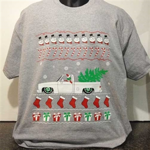 8e57817701b 1980 s Chevy Square body Ugly Christmas Sweater Design T-Shirt
